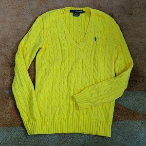 Ralph Lauren Sport Heavy Sunshine Yellow Sweater